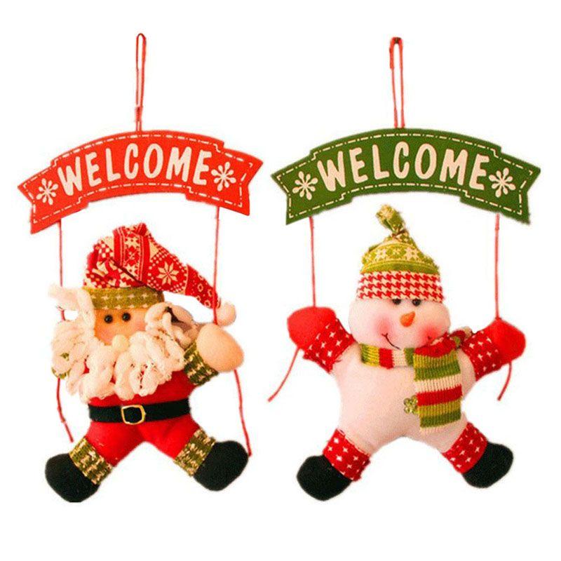 Санта Клаус снеговик дерево двери Рождество украшение для дома орнамент декора висит кулон Рождественский подарок Navidad украшения