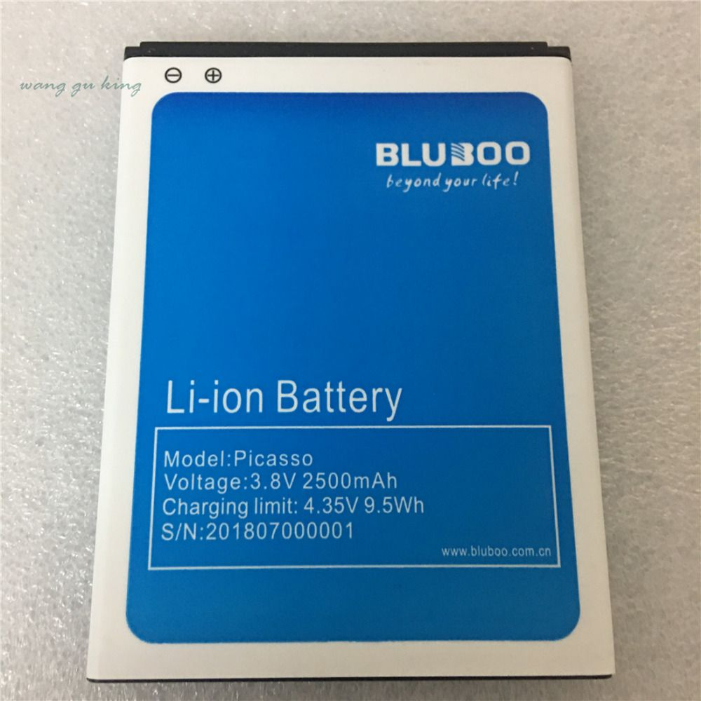 100% Original Tested 2500mAh Battery for Bluboo Picasso 3G 4G 5.0inch mobile phone Li-on Batteries + in stock