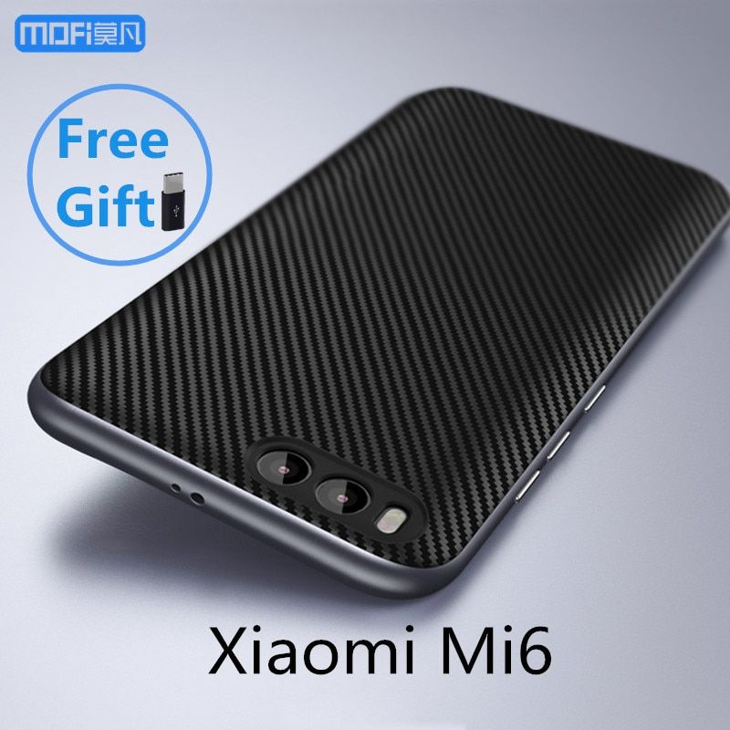 mi6 case for xiaomi mi6 case cover MOFi black for xiaomi mi 6 back case carbon fiber joint capa coque funda accessories 5.15