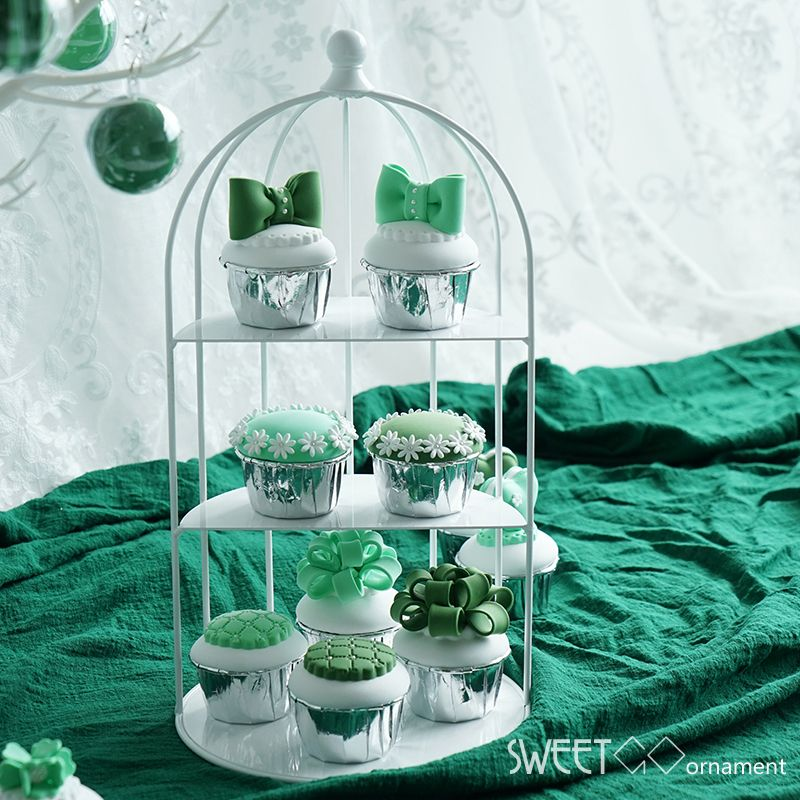 SWEETGO Birdcage cupcake stand decorating tools wedding dessert table supplier create-able ornament party decoration cake pops