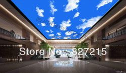S-0190/ blue sky with cloulds printing stretch ceiling film  sound absorbing construction material similar as ceiling panel