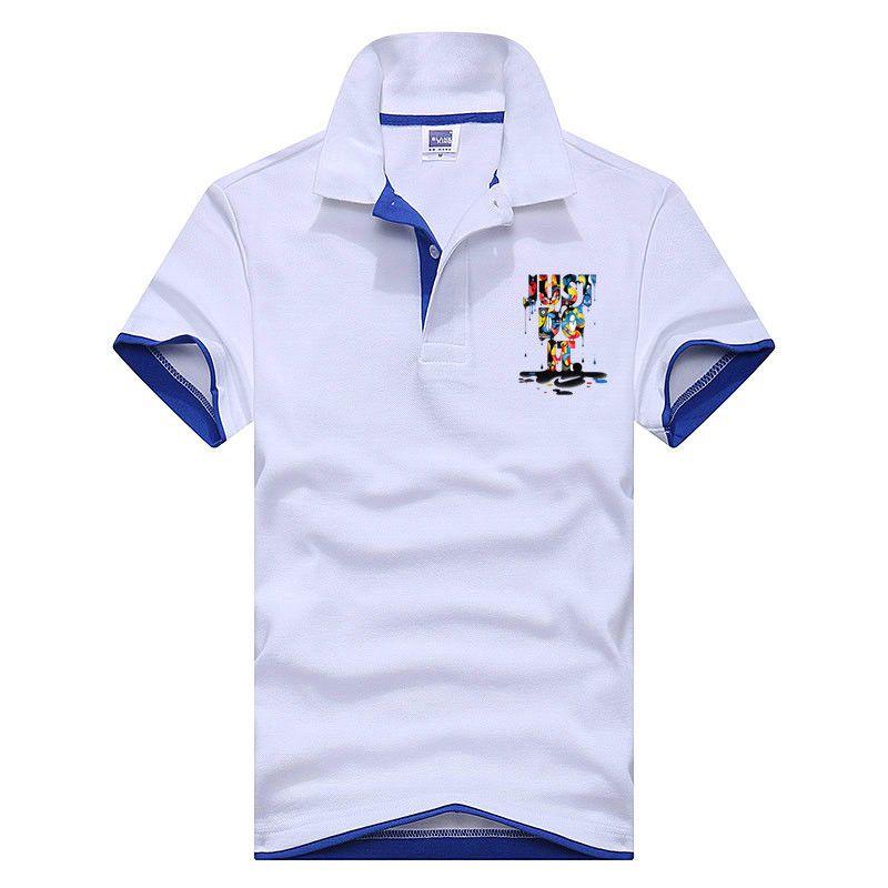 2018 Neue Modus Camisetas Kurzarm Masculinas Drehen Unten Kragen Sommer Casual weise NUR UM ES Polo hemd XS-3XL