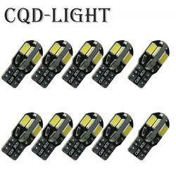 CQD-Lumière 10 PCS Canbus T10 8smd 5630 5730 LED de voiture Lumière Canbus PAS D'ERREUR OBC T10 W5W 194 SMD Led Ampoule