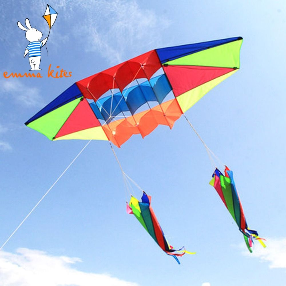 Cerfs-volants à ligne unique pour adultes gros cerf-volant Radar 3D volant avec queue de cerf-volant jouets de plein air Sport amusant parc de plage volant