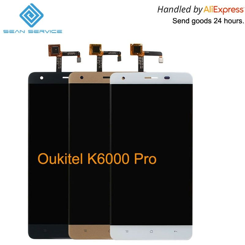 For Original Oukitel K6000 Pro LCD in Mobile phone LCD Display+<font><b>Touch</b></font> Screen Digitizer Assembly lcds +Tools 5.5 1920x1080P stock