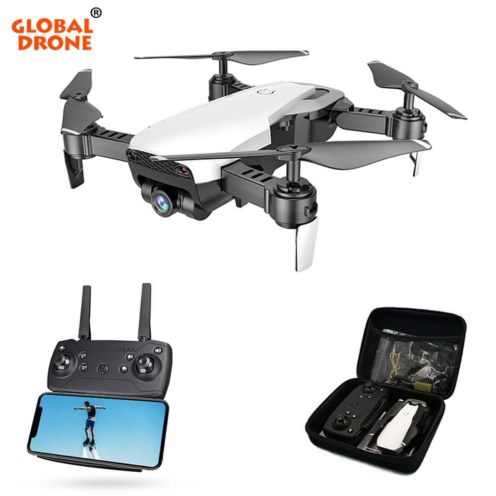 Global Drone FPV Selfie Dron Foldable Drone with Camera HD Wide Angle Live Video Wifi RC Quadcopter Quadrocopter VS X12 E58 E511