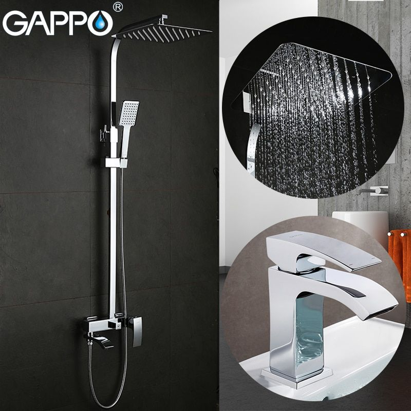 GAPPO Shower Faucets bath tub taps bathroom shower set basin faucets basin sink tap shower system