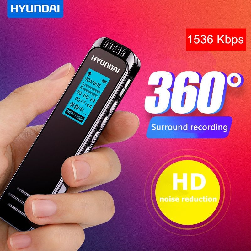 Professional Voice Activated Digital Audio Voice Recorder Long Time Recording dictaphone PCM 1536Kbps Support TF-Card MP3 Player