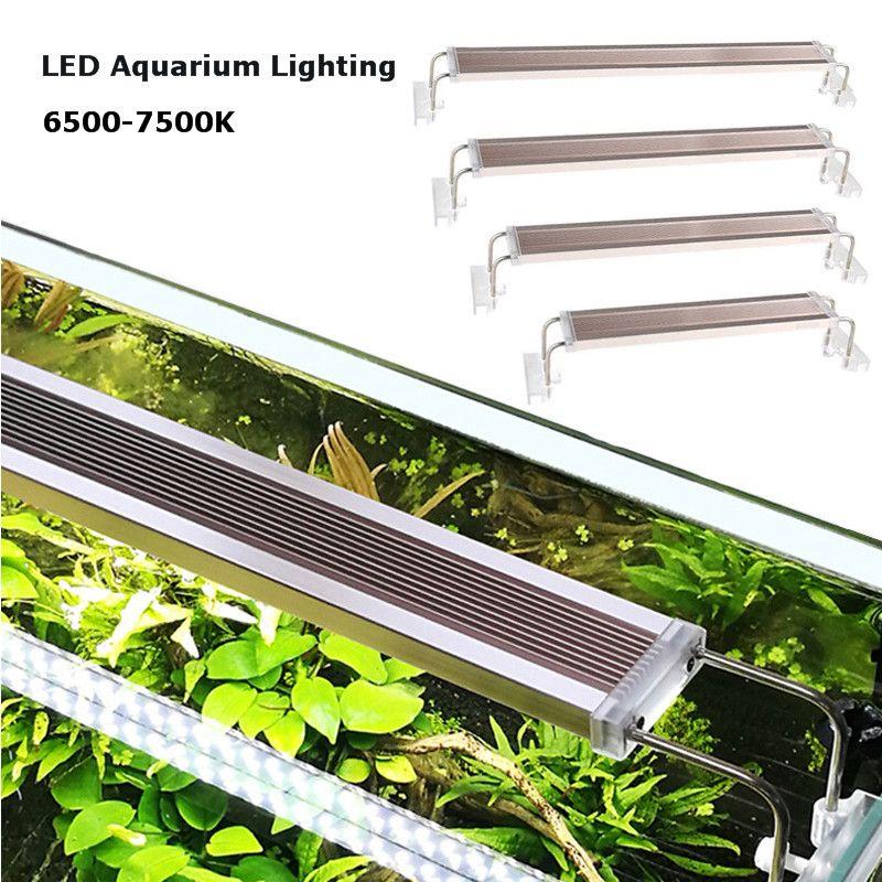 220v ADE Series Slim Aquarium LED Lighting 12-24W LED Overhead Fish Tank Water Plant Grow Lighting 6500-7500K