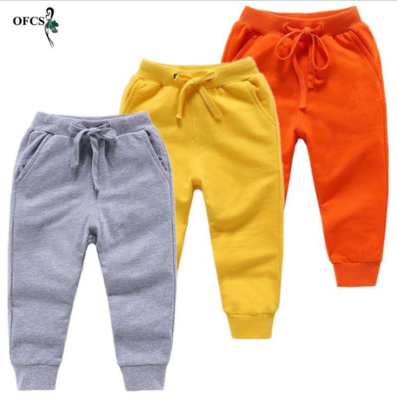 Nouveau pantalon de velours chaud au détail pour 2-10 ans solide garçons filles pantalons de Sport décontracté és Jogging Enfant Garcon enfants enfants pantalons