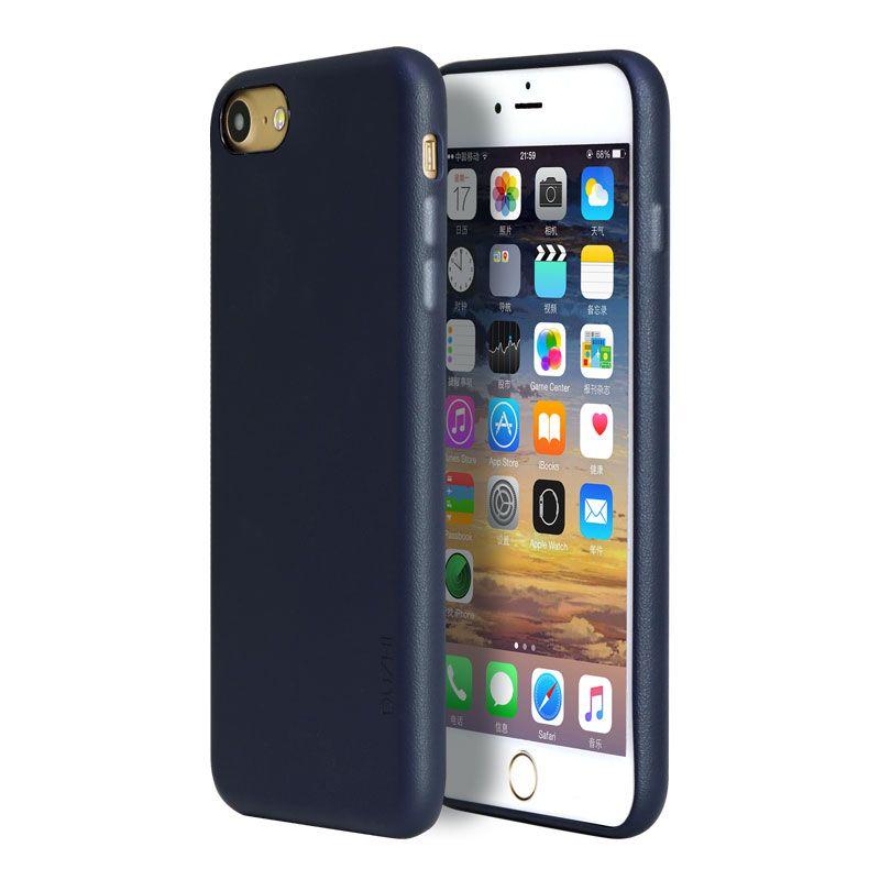 Duzhi En Cuir Téléphone Cas Pour Iphone 7 7 Plus Iphone 8 Iphone 8 Plus Anti Téléphone Baisse Couverture Simple PU Cuir Smart Téléphone cas