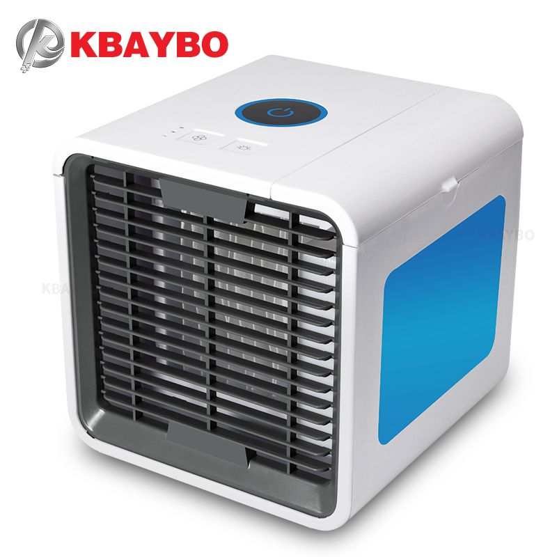 KBAYBO USB Mini Air Conditioner Portable Air Cooler Fan Summer Personal Space desk fans Cooler Device cool wind for home office