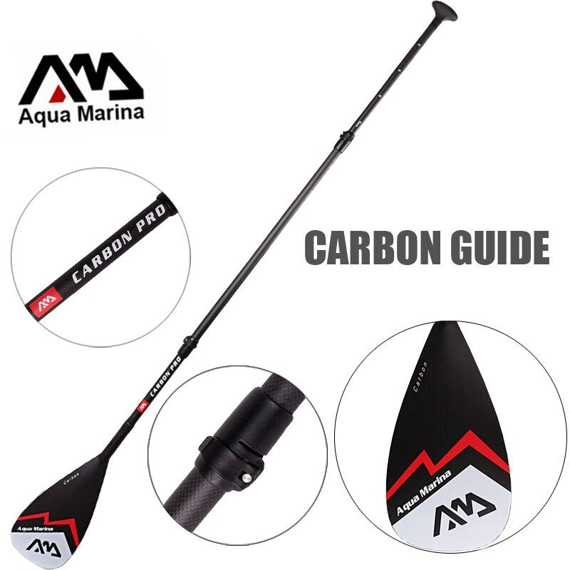 AQUA MARINA carbon fiber pro fiber paddle for SUP stand up paddle surf board adjustable extendable 210cm oar T handle A03007