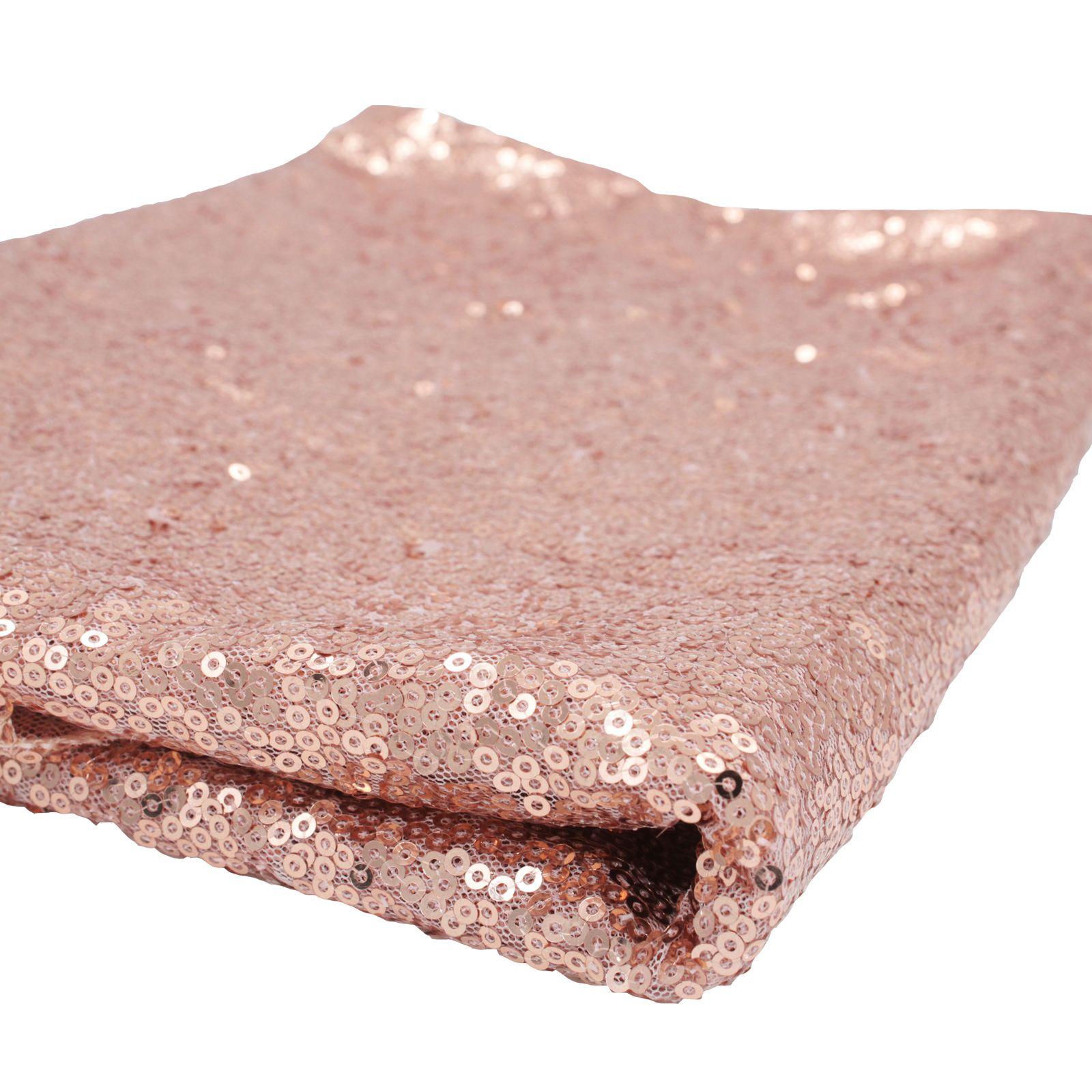 Nouveau 120x180 cm Mousseux rose/Or/Argent Broderie Mesh Sequin Nappe Couverture De Table Overlay pour le Mariage/parti Décorations De Noël