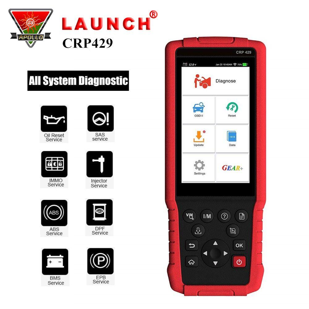 Starten X431 CRP429 Volle System OBD2 Code Reader OBDII Auto Diagnose Tool Auto Scanner für Auto PK CRP429C Creader CRP123
