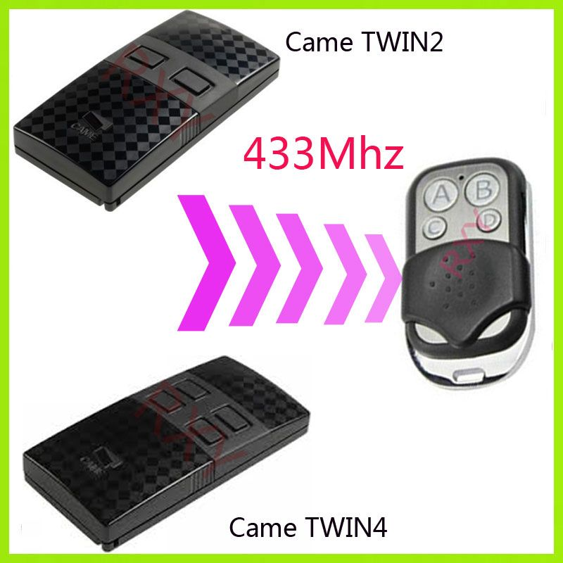 CAME TWIN2 TWIN4 433.92MHz télécommande universelle porte de garage télécommande came télécommandes