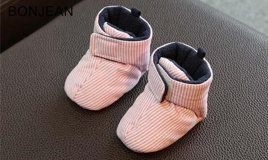 2017 детские туфли из хлопка зимние толстые теплые 6-12 месяцев Детские туфли на мягкой подошве eyzbnx45