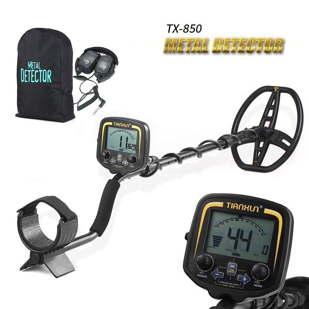 High Sensitivity High Performance Metal Detector TX-850 Underground Metal Detector Treasure Hunter Metal Finder Tool +Earphone