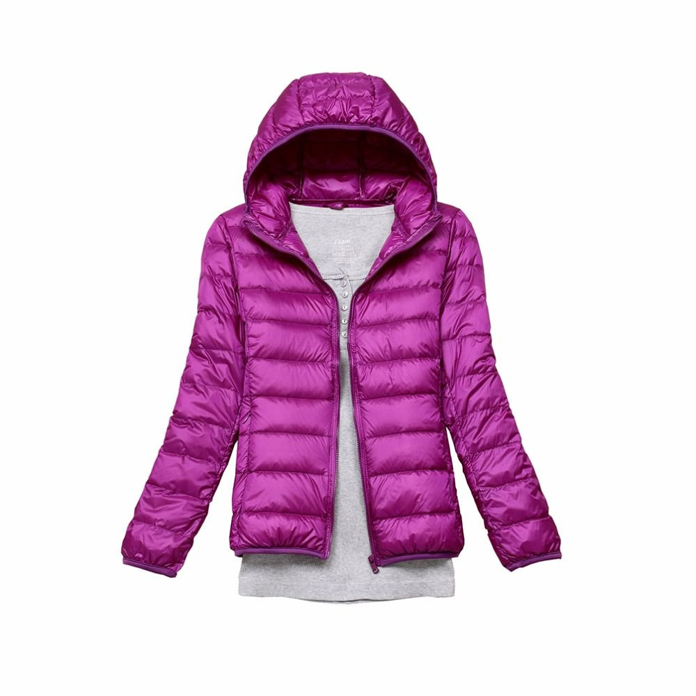 Brand Spring Autumn Women Parka Ultra Light Down 90% White Duck Down Jacket Winter cloth Hooded Coat Women's Parka Down 11 color