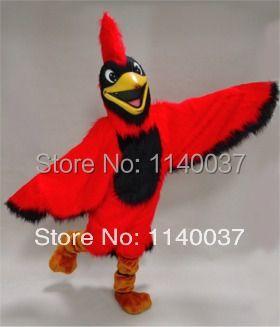 Maskottchen helle rote parrot maskottchen kostüm vögel leistung mascotte mascota outfit anzug partei cosply fancy dress