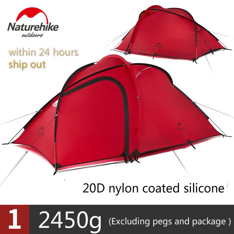 Naturehike Tent Hiby Series Camping Tent Outdoor 2-3 Persons 20D Silicone Fabric Double layer 4 Season Ultralight Family Tent