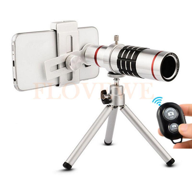 HD Mobile téléphone lentille kit Clip Universel 18x Zoom Optique Télescope Téléobjectif Avec Trépied Bluetooth Contrôle Pour téléphone portable