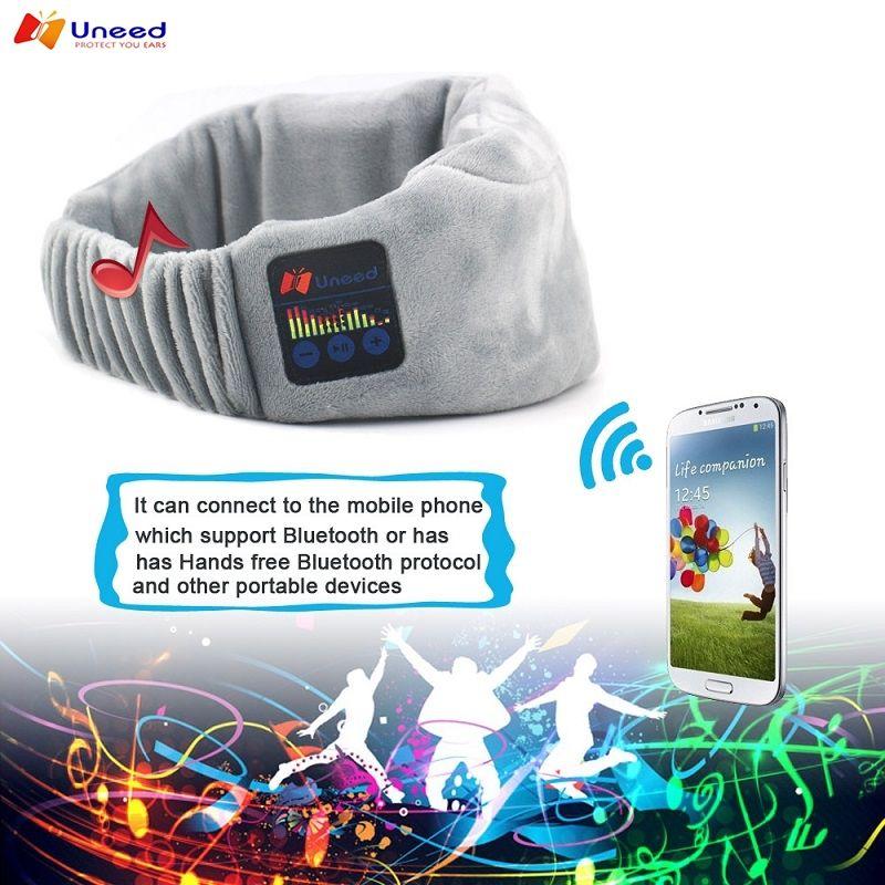 Uneed Sans Fil Bluetooth Bandeau Écouteurs de Couchage Sommeil Casque Faisceau De Yoga Casque Masque Pour Les Yeux pour Téléphone Portable