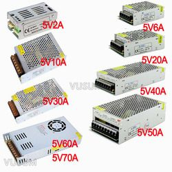 vusum Switching Led power supply 5V power supply Transformer 110V 220V AC to DC 5V 2A 6A 10A 20A 30A 40A 50A 60A 72A Driver