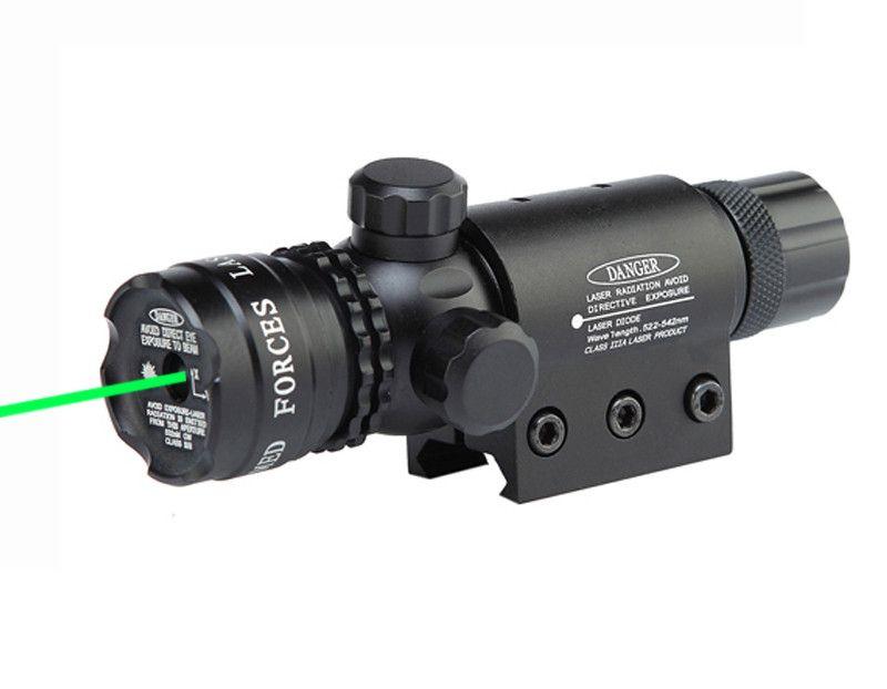 Pointe tactique mira rouge vert visée laser réglable 5 mw portée de pointeur laser avec interrupteur de point pour la chasse airsoft pistolet à air comprimé