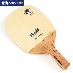 YINHE 982 (1 Ply Hinoki) Tenis Meja Blade Solid Cypress Jepang Penhold JS Raket Ping Pong Kelelawar Dayung