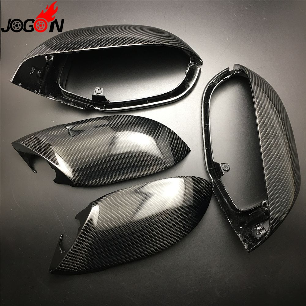 4PCS Full Set Kits Carbon Fiber For AUDI A7 S7 RS7 4G8 2010 - 2017 Car Side Rear View Rearview Back Mirror Cover 1:1 Replacement