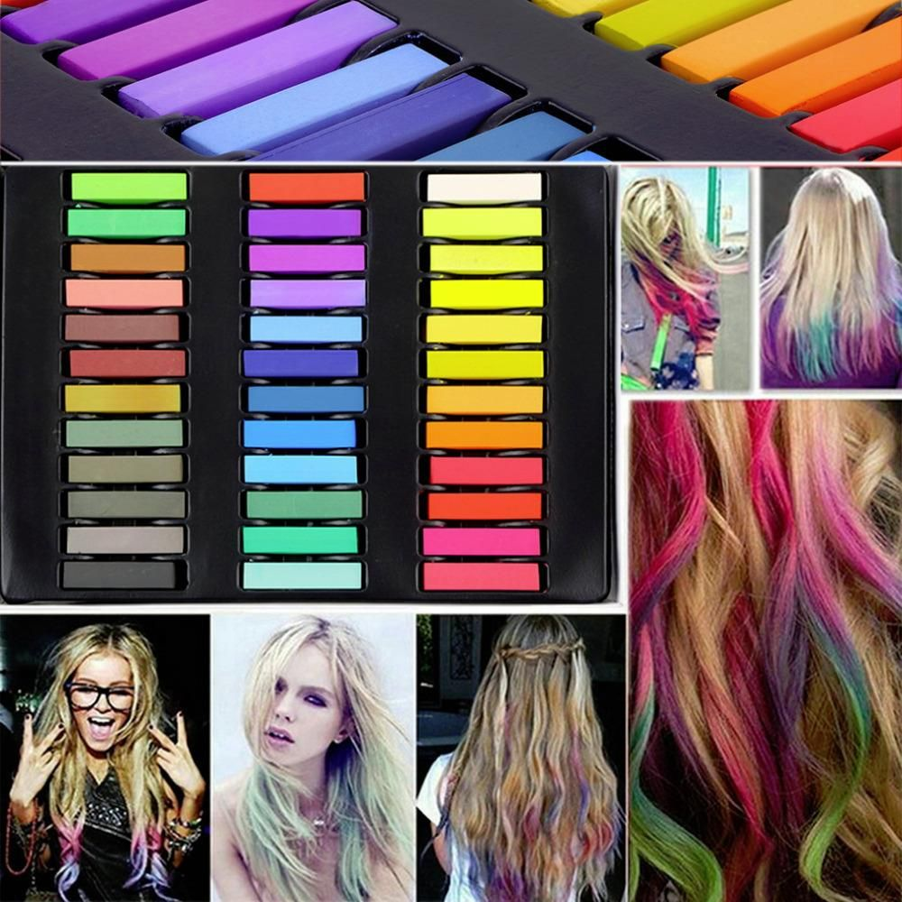 36 Colors Hair Dye Easy Temporary Colors Non-toxic Hair Chalk Soft Pastels Kit Hair Color Crayons for Hair Drop Shipping
