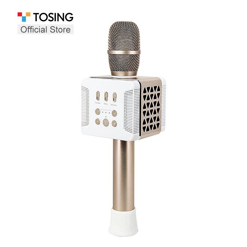 TOSING 016 FM verbinden unternehmen geschenke Verbesserte höhen/bass/echo reiseleiter mikrofon lautsprecher für handy/ TV singen karaoke