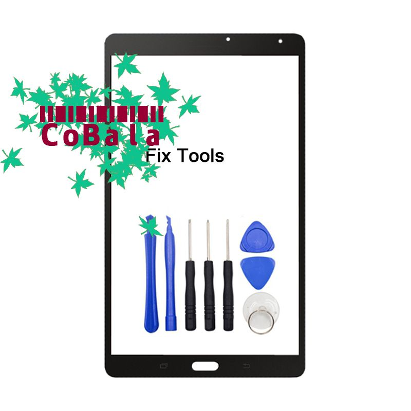 1Pcs Black White For Samsung Galaxy Tab S 8.4 T700 T705 T707 Front Glass 8.4 Touch Screen LCD Outer Panel Replacement+Tools