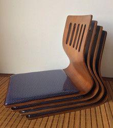 (4 pcs/lot) Kursi tanpa kaki Asia Gaya Jepang Ruang Tamu Lantai Duduk Furniture Kopi Finish Tatami Zaisu Berkaki Jepang kursi