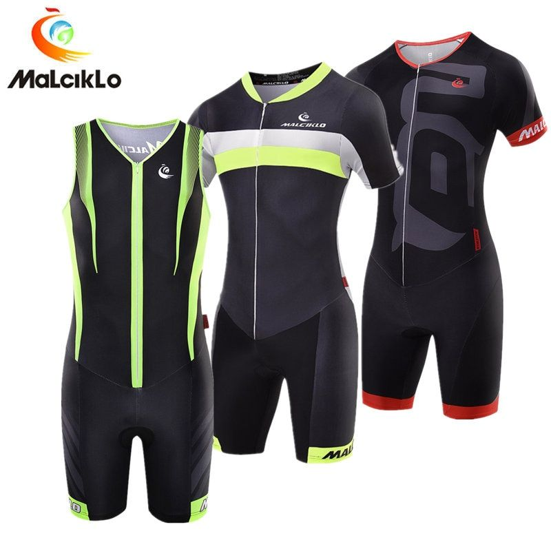 Malciklo Triathlon Suit Breathable Men's Cycling Jersey 2018 Pro Team Skinsuit Jumpsuit Maillot Cycling Sets Ropa Ciclismo