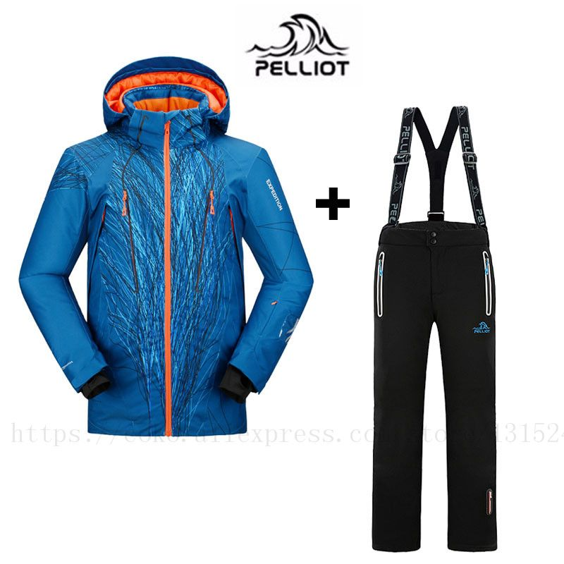 2018 FREE SHIPPING Guarantee Authentic!Pelliot Male Ski Suits Jacket+Pants Men's Water Proof, Thermal Cottom- Padded Snowboard