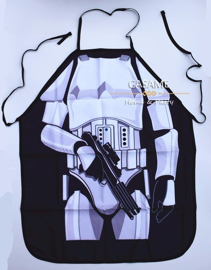wholesale  Party Product Funny STAR WARS darth vader White Warrior  Apron Character Costume Apron Cooking apron Party Apron
