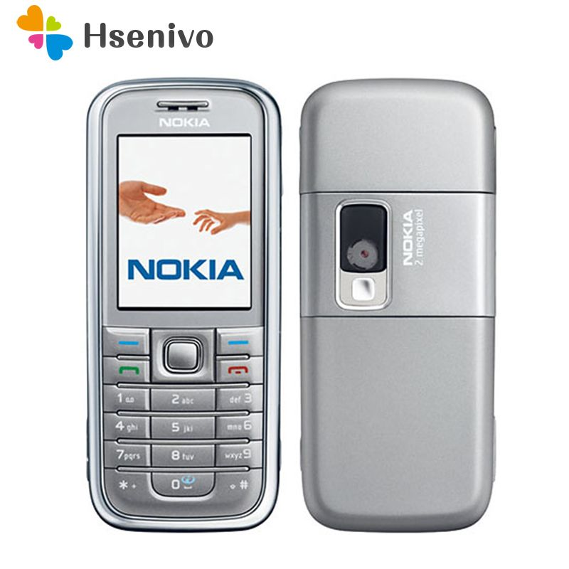 Refurbished original Nokia 6233 mobile phone with 2MP camera 3G loud speaker support Russian menu Russian keyboard free shipping