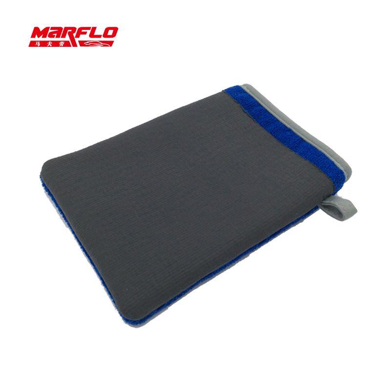 Lavage de voiture magique argile Bar Mitt voiture argile tissu Auto soin nettoyage serviette microfibre éponge Pad argile tissu détaillant brillatech