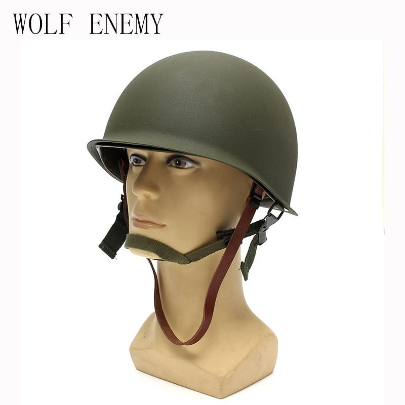 New Hot Sale High Quality Universal Portable Military Steel M1 Helmet Tactical Protective Army Equipment Field Green Helmet