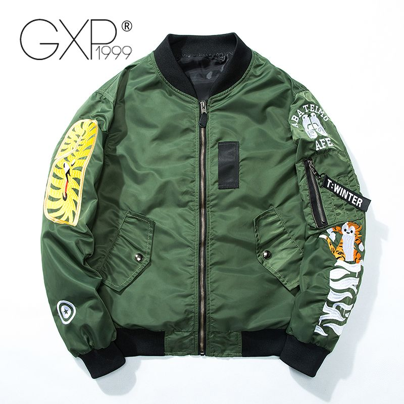 Spring Military Jacket Men with Funny Face on Back 2018 Polyester Jackets Standard Cool Baseball Cloth GXP1999 A913
