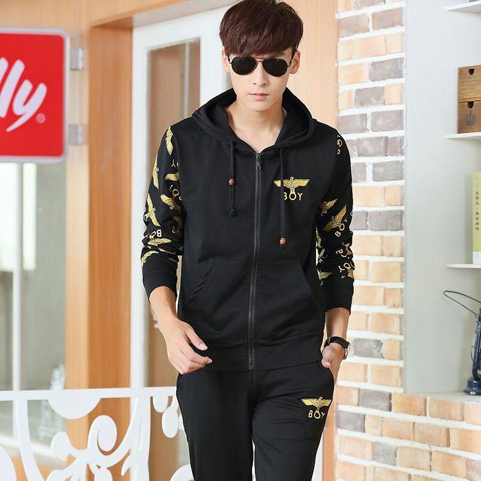 Boy London hip-hop danza rap Rock Street Fashion Plus terciopelo con capucha traje suéter ropa casual 1310MMT31