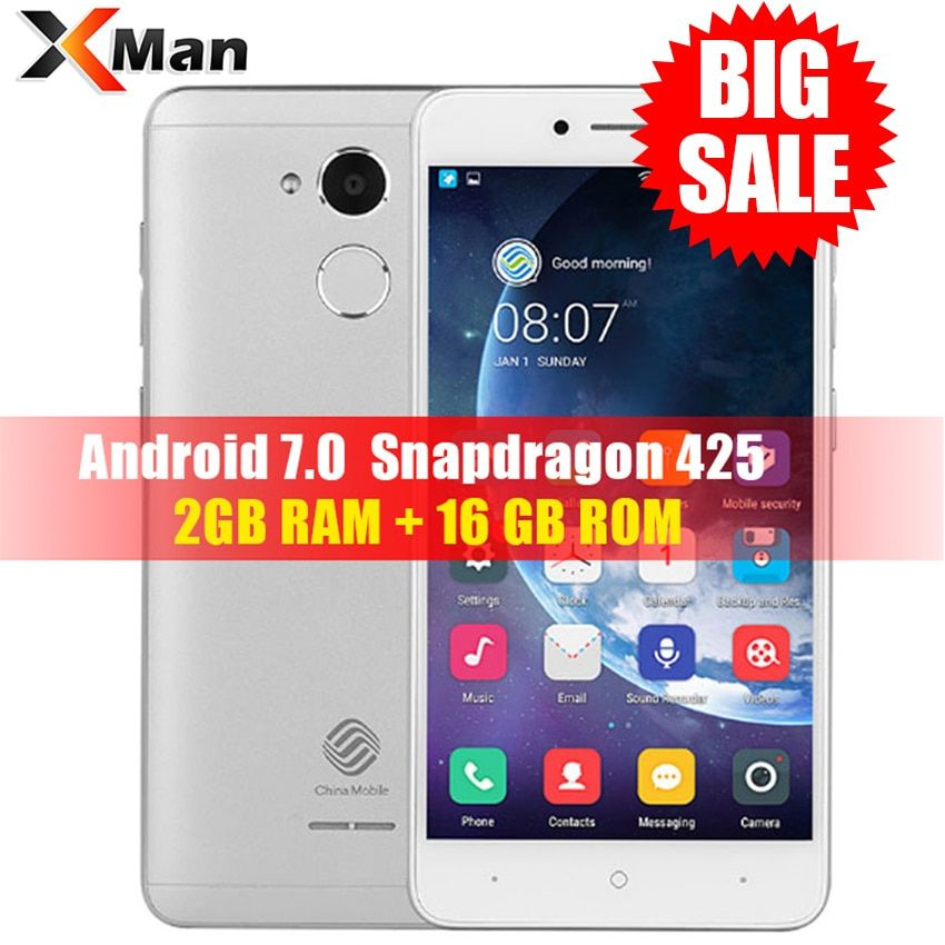 China Mobile A3S M653 4G LTE Smartphone 2GB RAM 16GB ROM <font><b>5.2inch</b></font> Snapdragon 425 Quad Core chinamobile A3S Android 7.0 Phone