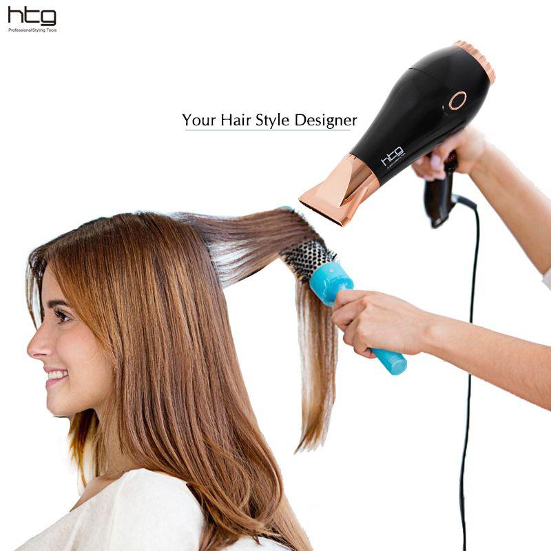Sèche-cheveux professionnel HTG 2300 W Ion et infrarouge Super puissance taille compacte Shinny AC moteur sèche-cheveux sèche-cheveux HT039A