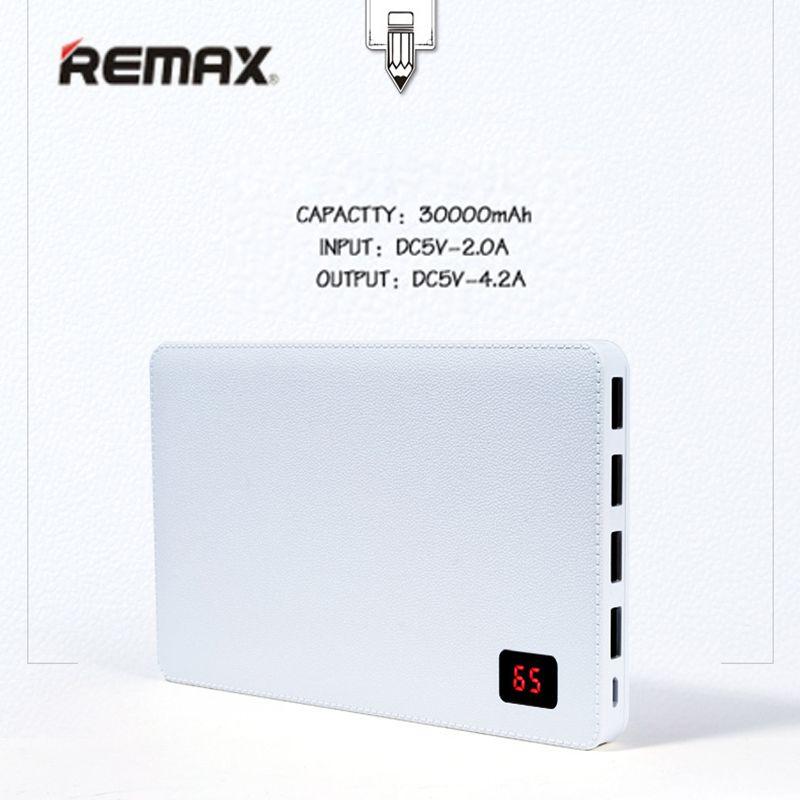 Remax 30000 mah Handy Bewegliche Aufladeeinheitsenergienbank 4 USB ausgangstor Externen Batterie für iphone 7 8 Pover bank Universal