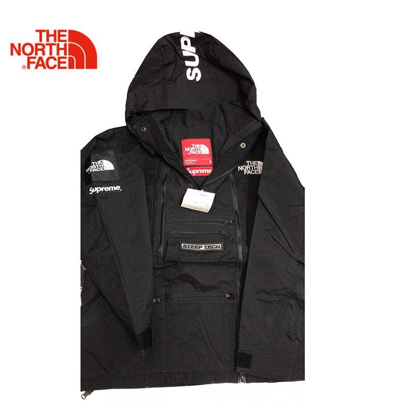 Supreme x TNF Steilen Tech Mit Kapuze 16SS Die North Face Winter Warme Outdoor Männer Warme Jacke