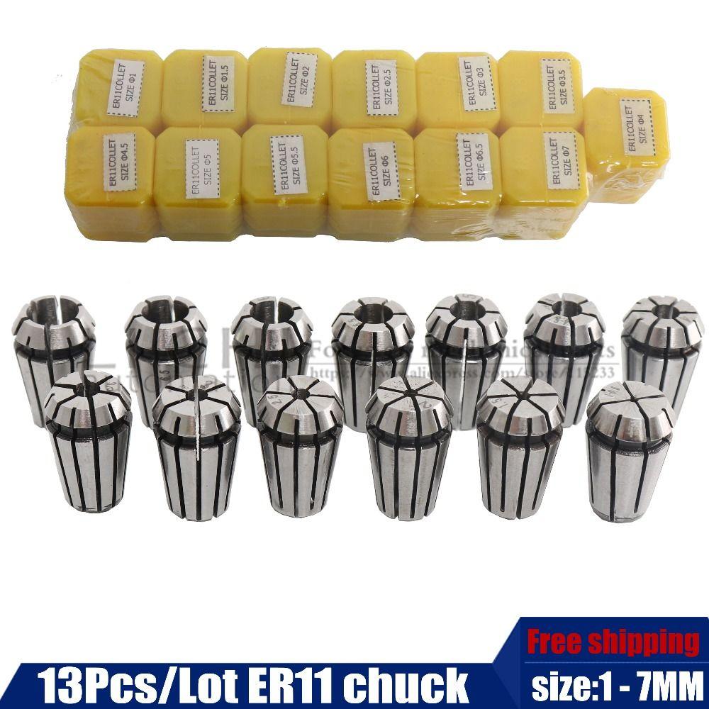 Livraison gratuite 13 pièces ER11 mandrin Pince À Ressort Ensemble Pour CNC Machine de Gravure et De Fraisage Tour Outil pour moteur de broche