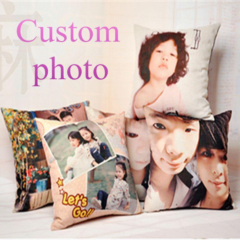 Personnaliser Coussin Décoratif Imprimer Votre Photo sur Oreiller Canapé Coussins 45*45 cm Cadeau De Mariage Personnalisé photo pour coussin