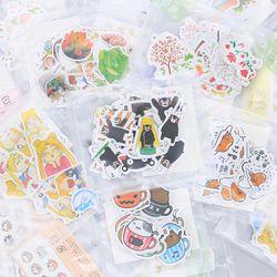Gaya Yang Berbeda Hewan Mini Kertas Stiker Dekorasi DIY Ablum Diary Scrapbooking Stiker Label Kawaii Stationery